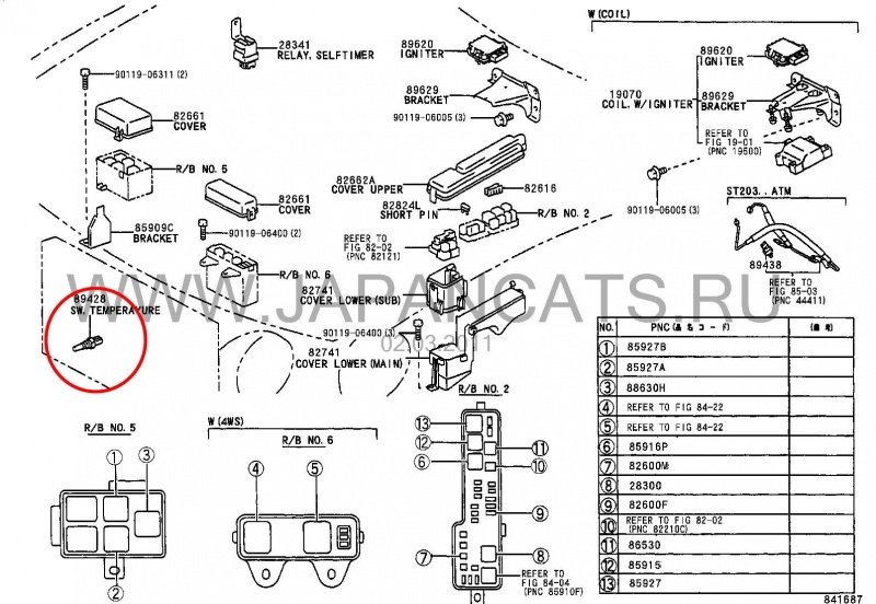 2003 toyota sequoia fuse box diagram